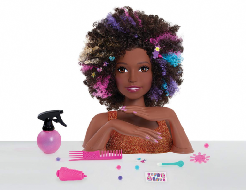 Barbie Sparkle Deluxe Styling Head -Afro Hair
